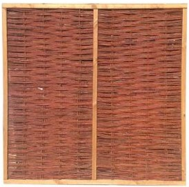6ft woven willow fence panel