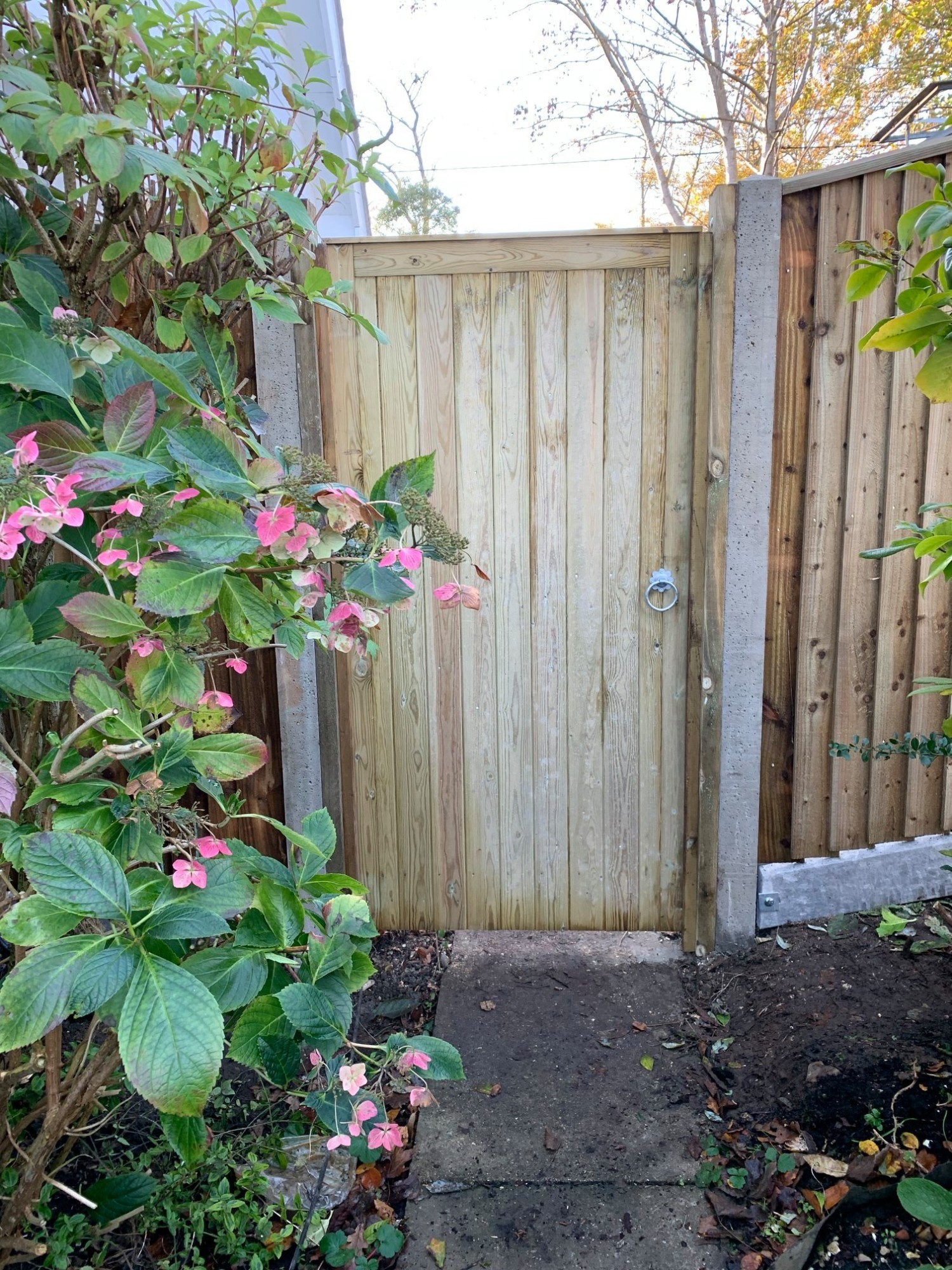 Heavy Duty Timber Gate installed